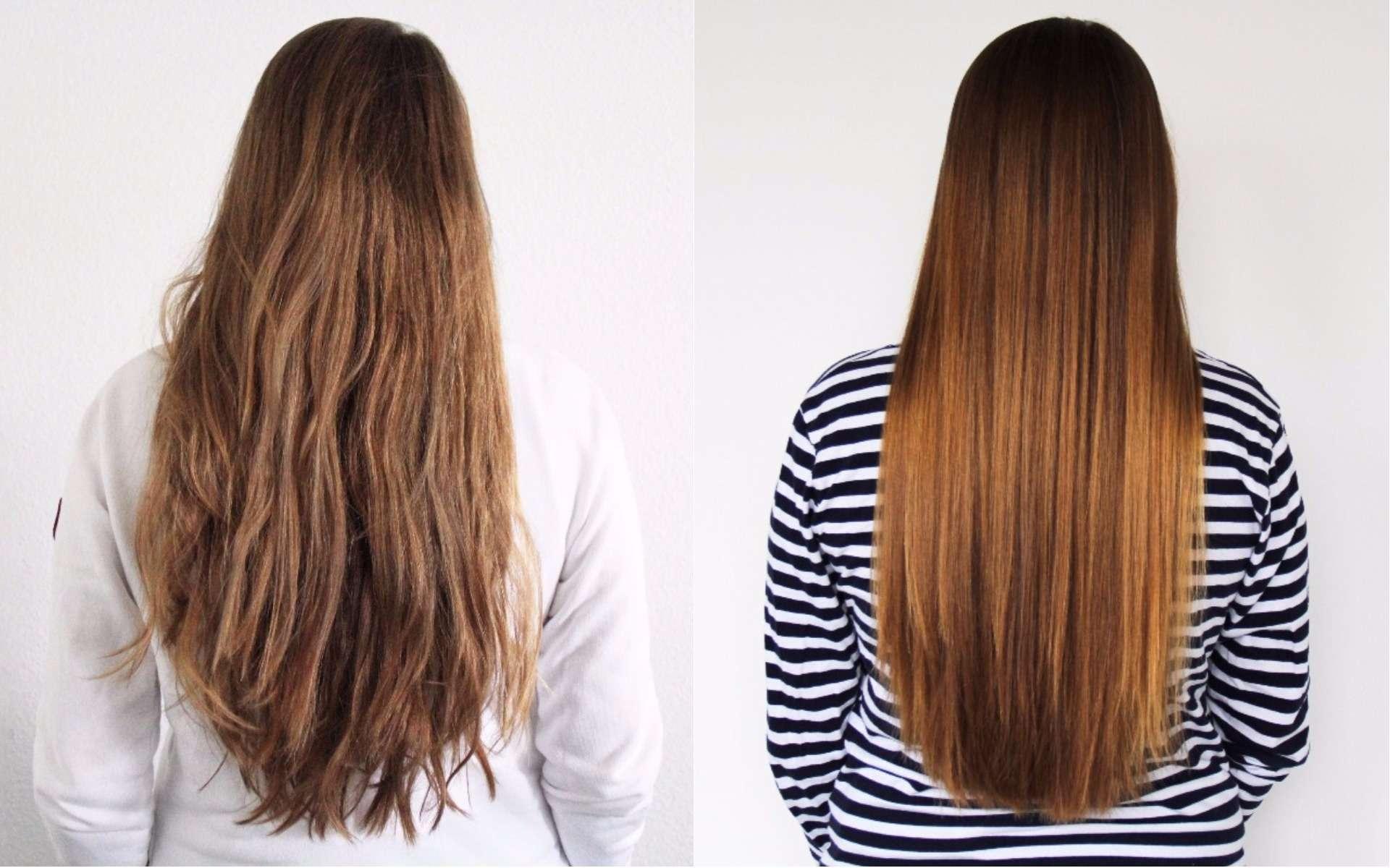 Traitement des cheveux avec la keratine