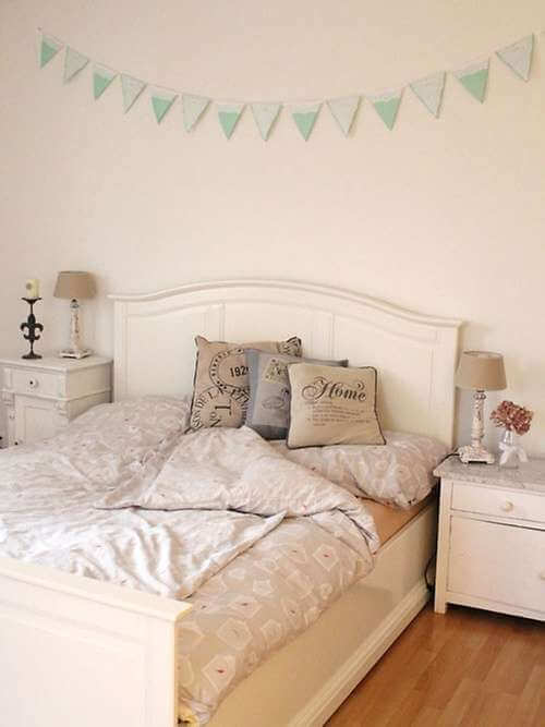 einrichtungsideen f r ein shabby schlafzimmer. Black Bedroom Furniture Sets. Home Design Ideas