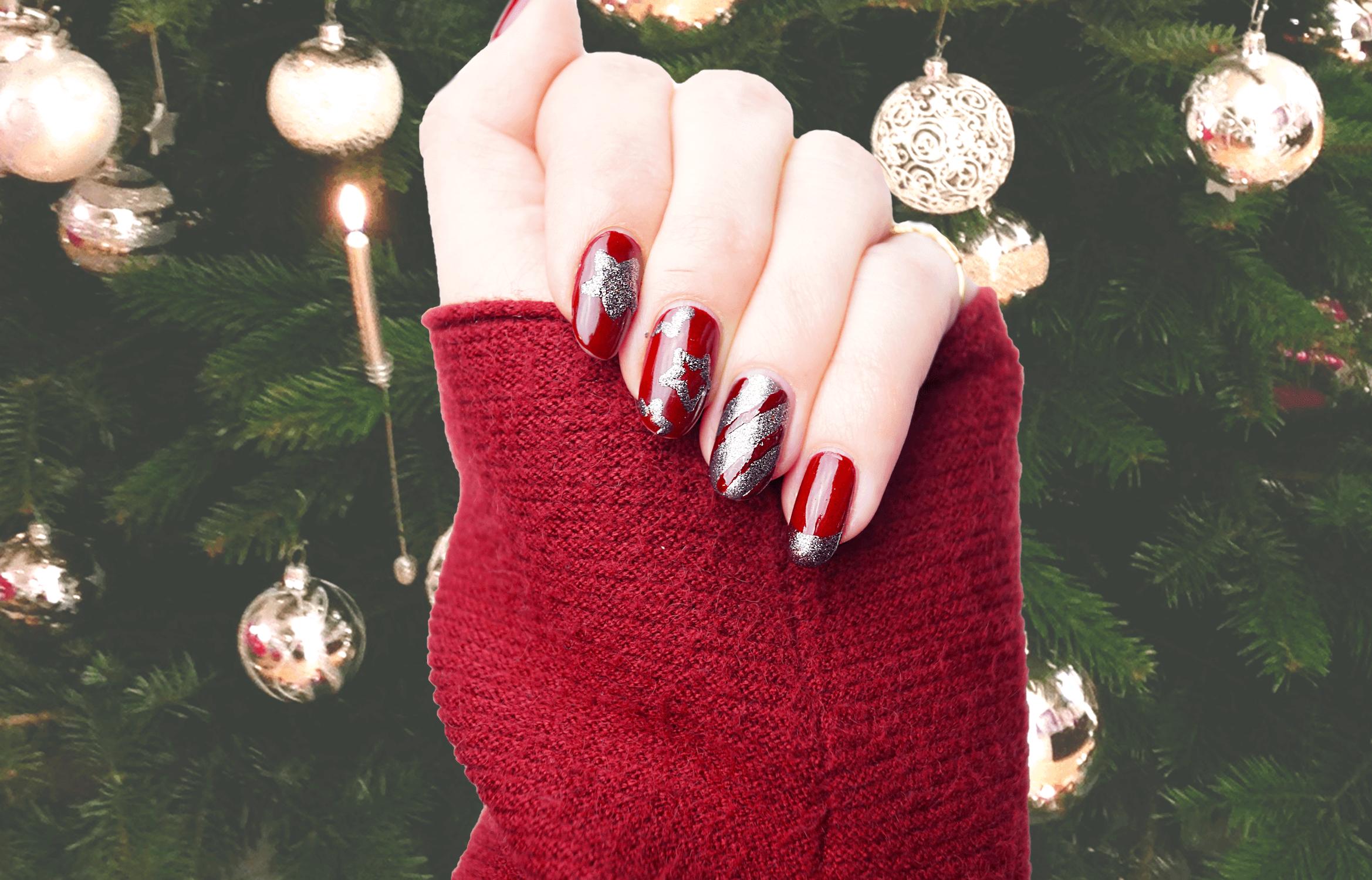 Unglaublich Weihnachts Nägel Rot Sammlung Von Weihnachtsnägel: Perfektes Trifft Auf Diamantenstaub. Weihnachten -n-gel-naildesign