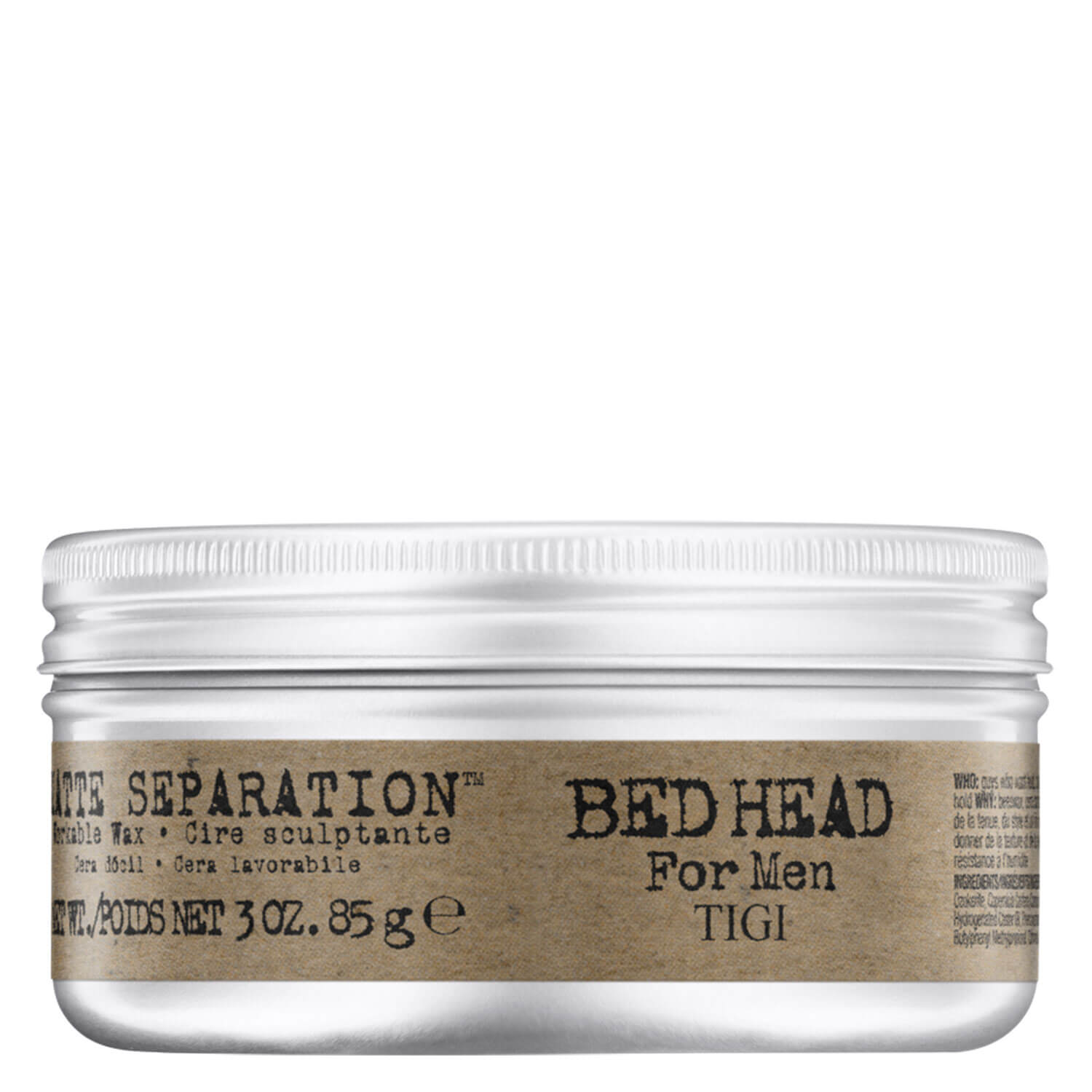 Bed Head For Men - Matte Separation - 85g